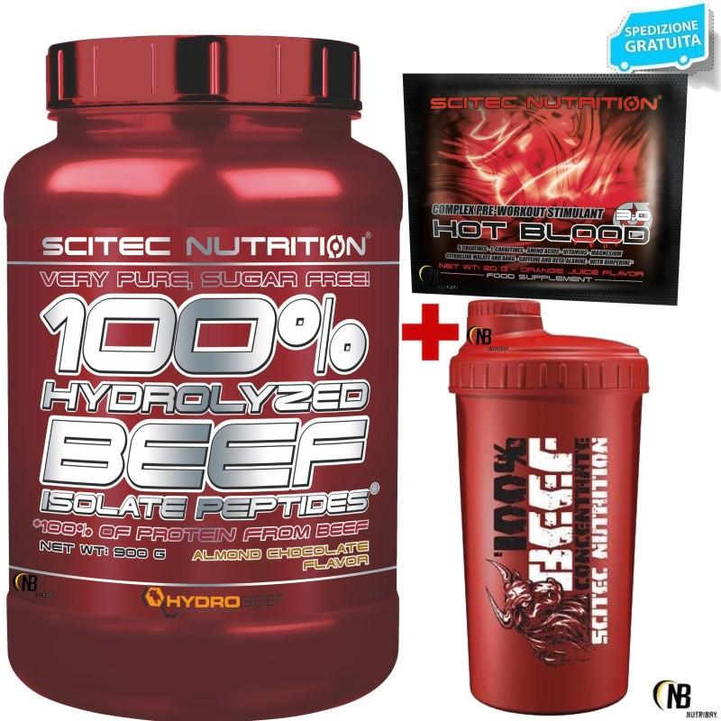 SCITEC NUTRITION 100% Hydro Beef Proteine isolate idrolizzate della Carne Manzo in vendita su Nutribay.it