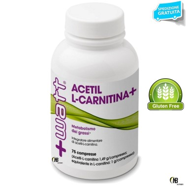 +WATT ACETIL L-CARNITINA ALC 75cpr DA 1,4gr efficace BRUCIA GRASSI dimagrante CARNITINA in vendita su Nutribay.it