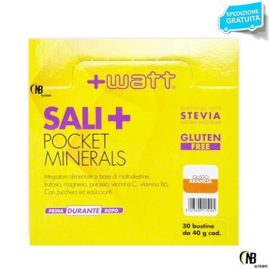 +WATT SALI POCKET 30 BUSTINE DA 40 GR MINERALI POTASSIO MAGNESIO VITAMINE in vendita su Nutribay.it