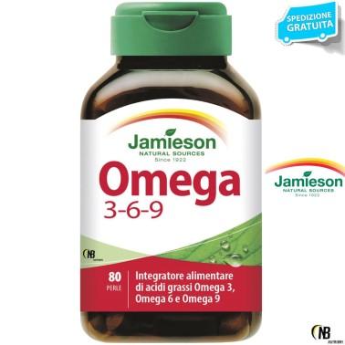 Jamieson Omega 3-6-9 80 perle Olio di lino borragine e Pesce