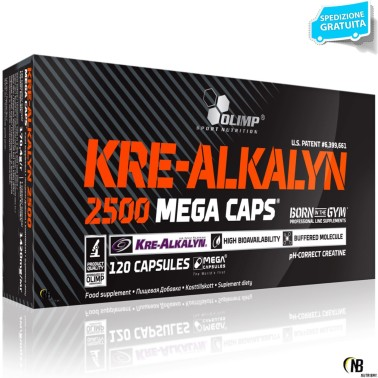 Olimp Kre-Alkalyn ® 2500 (creatina con pH modificato) 120 caps da 1250 - CREATINA - in vendita su Nutribay.it
