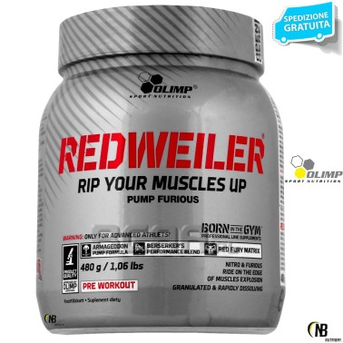 Olimp Redweiler 480 gr. Pre-workout con Beta Alanina Citrullina Arginina