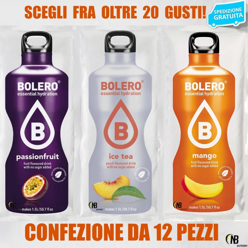BOLERO Drink 12 pz Preparato istantaneo per Bevande Zero Carbo + Stevia in vendita su Nutribay.it