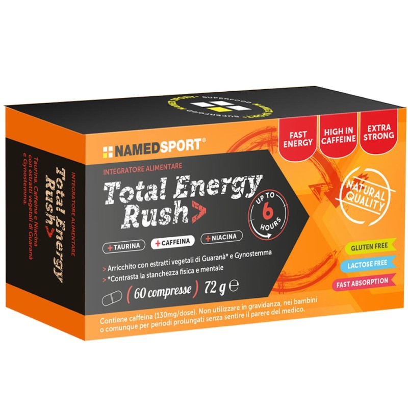 NAMED SPORT Total Energy Rush 60 cpr. Energetico con Taurina Niacina e Guarana' in vendita su Nutribay.it