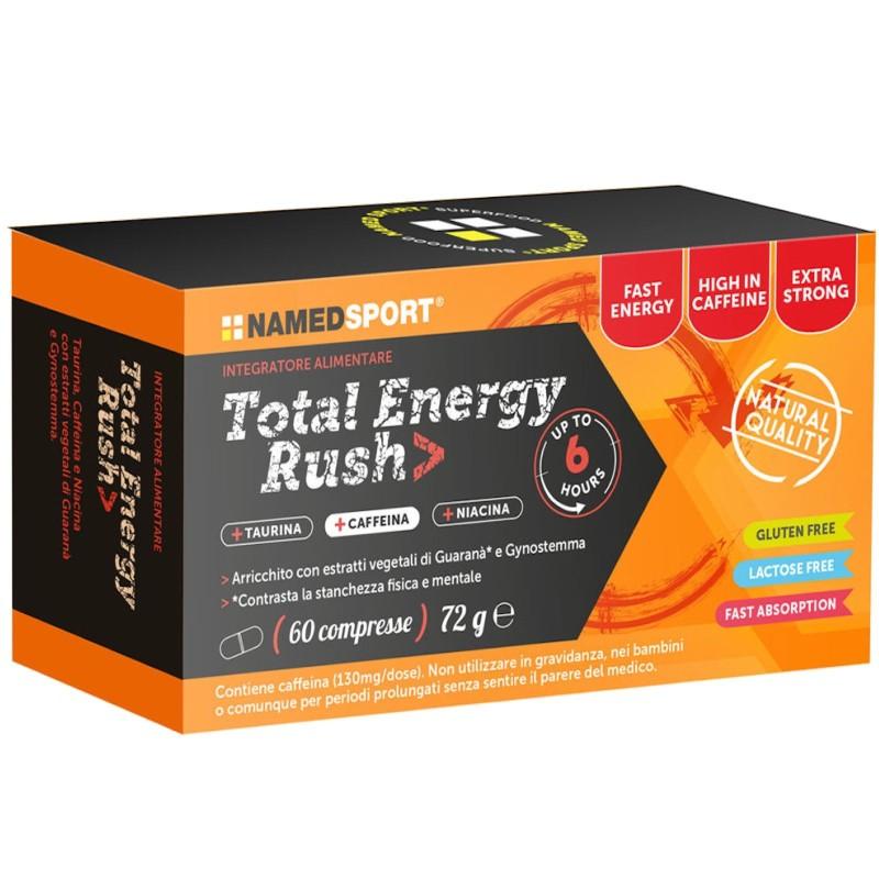 NAMED SPORT Total Energy Rush 60 cpr. Energetico con Taurina Niacina e Guarana' in vendita su Nutribay.it
