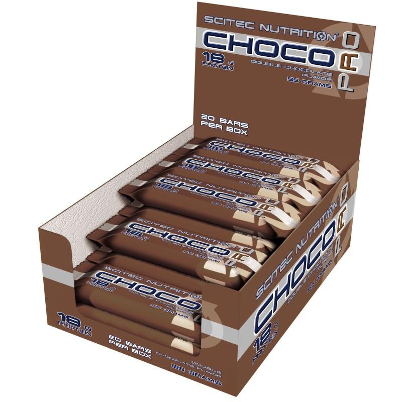 Scitec Choco Pro 20 Barrette Proteiche da 55 gr con 33% di Proteine in vendita su Nutribay.it