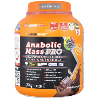 Named Sport Anabolic Mass Pro 1,6 kg Mass gainer Avanzato Completo in vendita su Nutribay.it