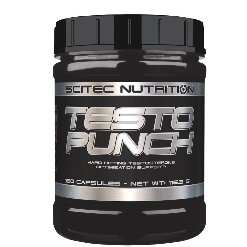 SCITEC Testo Punch 120 cps. Stimolante Testosterone con Daa Fieno Greco e Maca in vendita su Nutribay.it