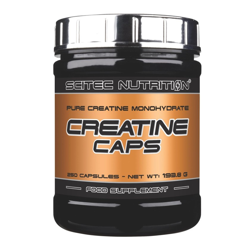 SCITEC NUTRITION Creatine Caps 250 Creatina Monoidrato Capsule +Proteine OMAGGIO in vendita su Nutribay.it