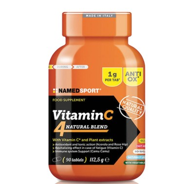 Named Sport Vitamina C Natural 90 compresse da 1 gr con Estratti Vegetali - VITAMINE in vendita su Nutribay.it