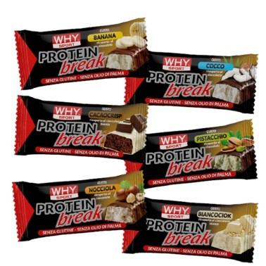 Why Sport Protein Break Bar 14 Barrette Proteiche al 50% di Proteine in vendita su Nutribay.it