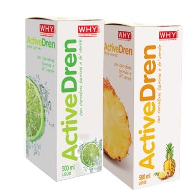 Why Active Dren Liquid 500 ml Drenante Depurativo con Betulla e Carnitina in vendita su Nutribay.it