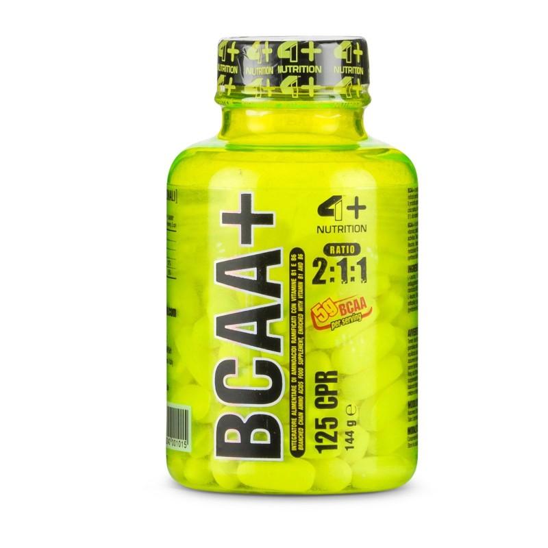 4+ Nutrition Bcaa+ Plus 125 tabs Aminoacidi Ramificati qualità Ajinomoto® in vendita su Nutribay.it