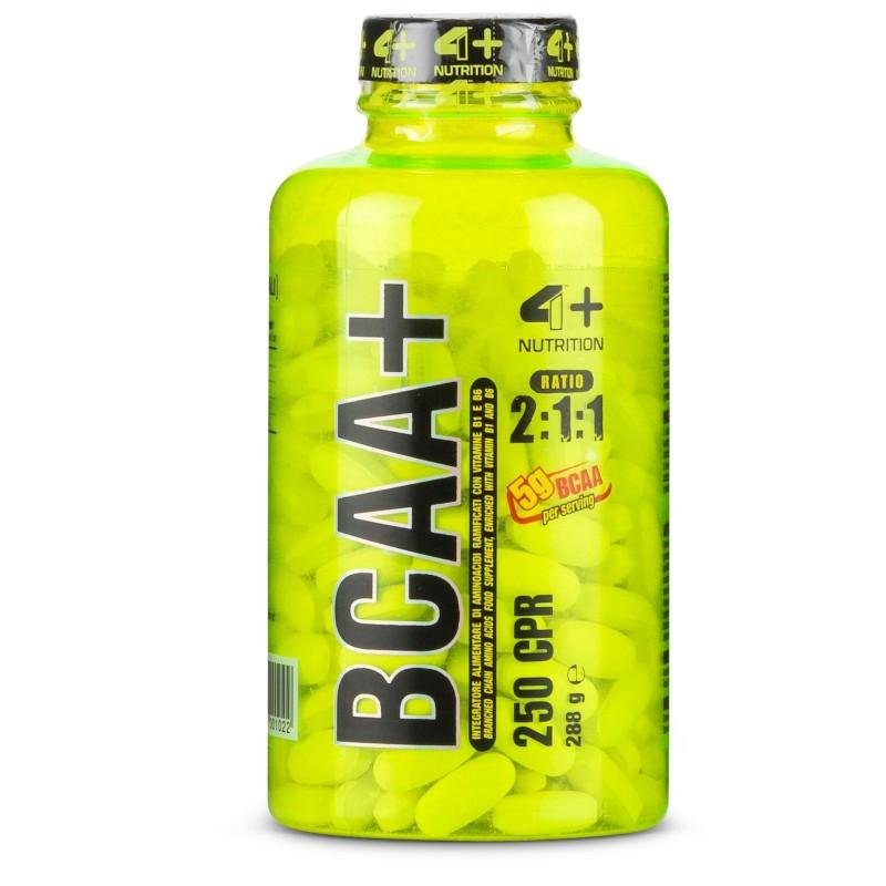 4+ Nutrition Bcaa+ Plus 250 tabs Aminoacidi Ramificati qualità Ajinomoto ® in vendita su Nutribay.it