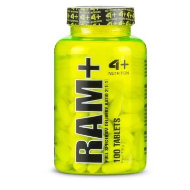 4+ Nutrition Ram+ 100 tabs Aminoacidi Ramificati 2:1:1 con Vitamina b1 e b6 in vendita su Nutribay.it