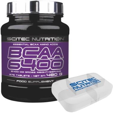 Scitec Nutrition BCAA 6400 Aminoacidi Ramificati 375 cpr da 1 gr + Portapillole