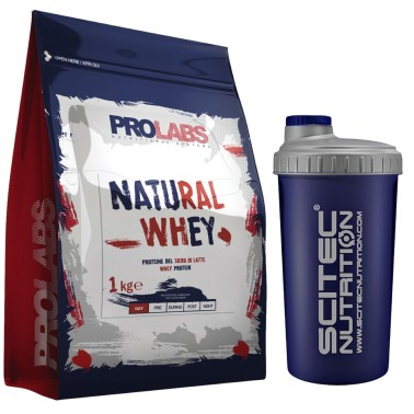 PROLABS Natural Whey 1 kg Proteine Siero del Latte Gusto Neutro + SHAKER SCITEC - PROTEINE - in vendita su Nutribay.it