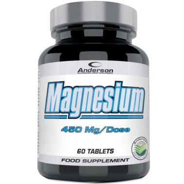 Anderson Magnesium 60 cpr. Integratore di Magnesio Citrato e Carbonato - SALI MINERALI in vendita su Nutribay.it