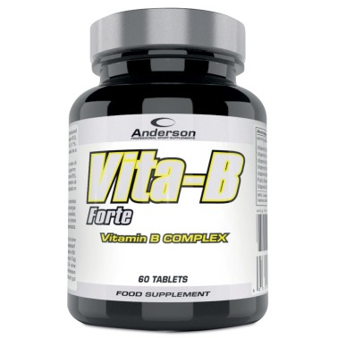 Anderson Vita-B Forte 60 cpr Vitamine b1 b2 b3 b5 b6 b12 Acido Folico in vendita su Nutribay.it