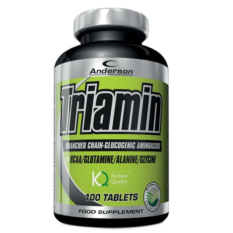 ANDERSON Triamin 200 cpr. Aminoacidi Ramificati Bcaa Glucogenetici + Glutammina - AMINOACIDI BCAA in vendita su Nutribay.it