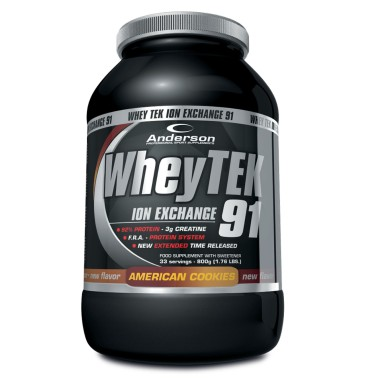 ANDERSON Whey Tek 91 Proteine Siero del Latte 800 gr. con Creatina e Vitamine in vendita su Nutribay.it