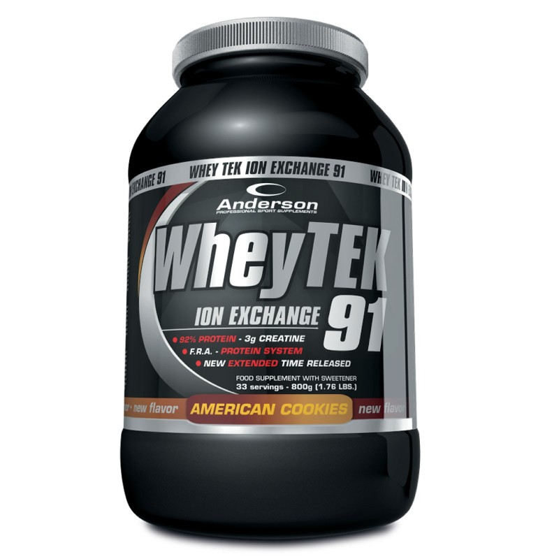 ANDERSON Whey Tek 91 Proteine Siero del Latte 800 gr. con Creatina e Vitamine - PROTEINE in vendita su Nutribay.it