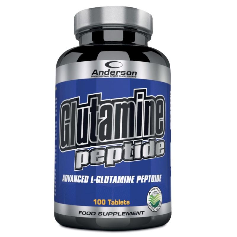 ANDERSON Glutamine Peptide 100 cpr Integratore di Glutammina pura 100% peptidi in vendita su Nutribay.it