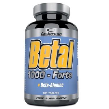 Anderson Betal 1000 Forte 100 cpr Beta Alanina da 1gr + Vitamina B6 - PRE ALLENAMENTO - in vendita su Nutribay.it