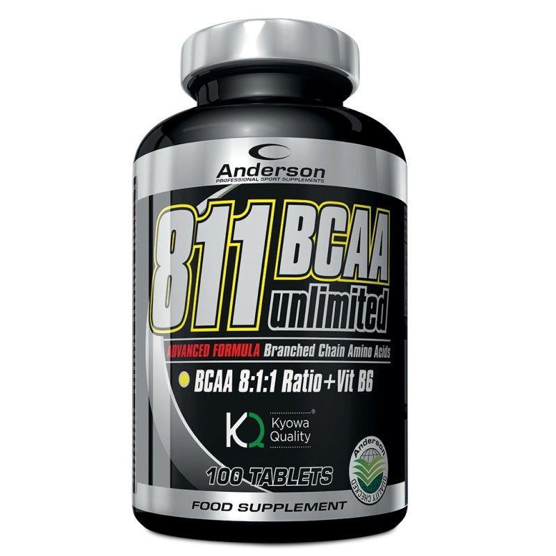 ANDERSON 811 Bcaa unlimited 100 compresse Aminoacidi Ramificati 8:1:1 + Leucina in vendita su Nutribay.it