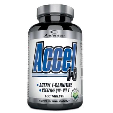 ANDERSON Accel 1-G 100 Acetil L-Carnitina Bruciagrassi Dimagrante coenzima q10 - CARNITINA - in vendita su Nutribay.it