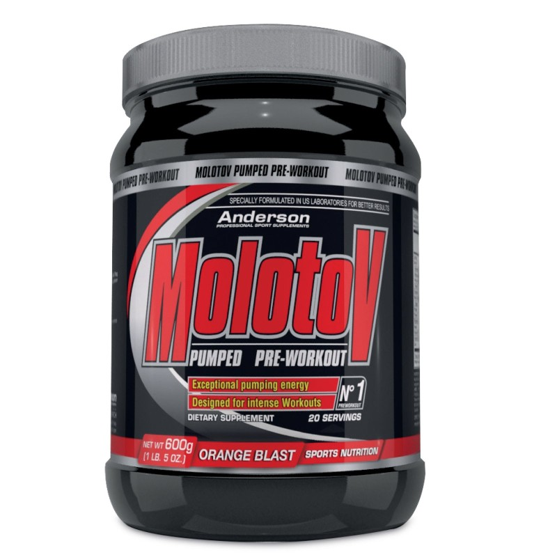 ANDERSON Molotov 600g PreWorkout Aminoacidi Bcaa Creatina Beta Alanina Arginina in vendita su Nutribay.it