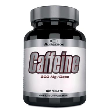 ANDERSON Caffeine 100 cpr. da 200 mg. di Pura Caffeina Energetico Metabolismo