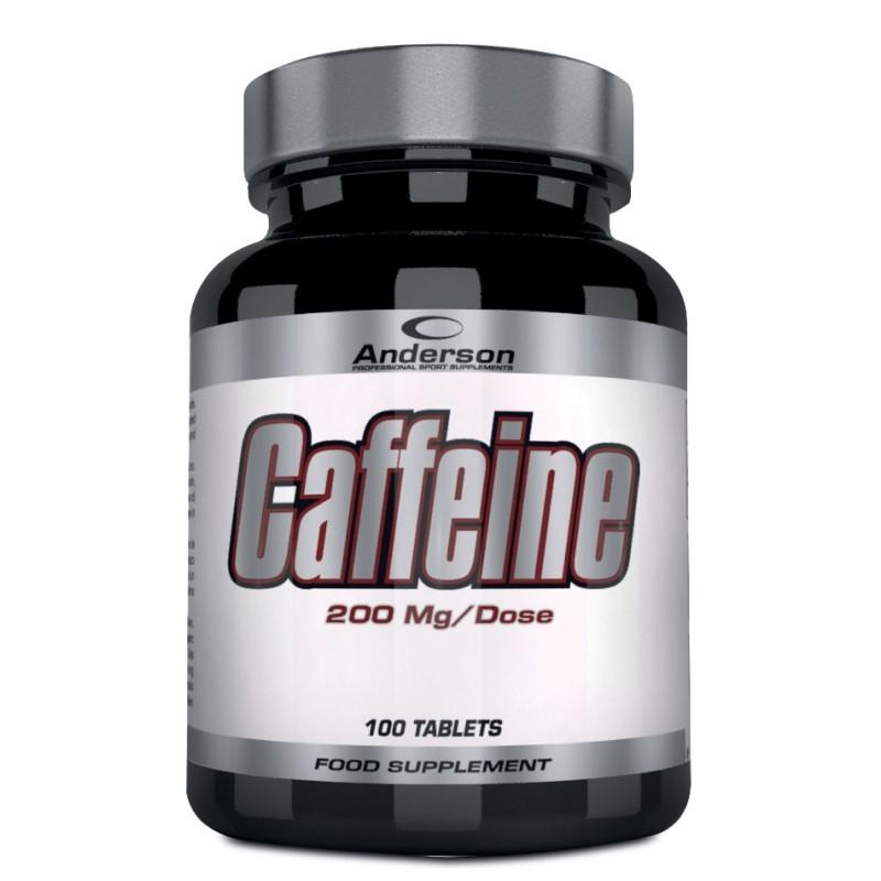 ANDERSON Caffeine 100 cpr. da 200 mg. di Pura Caffeina Energetico Metabolismo - CAFFEINA in vendita su Nutribay.it