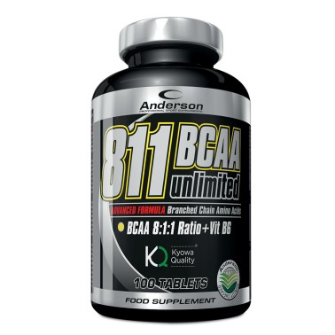 ANDERSON 811 Bcaa unlimited 100 cpr. Aminoacidi ramificati 8:1:1 + Leucina Extra in vendita su Nutribay.it