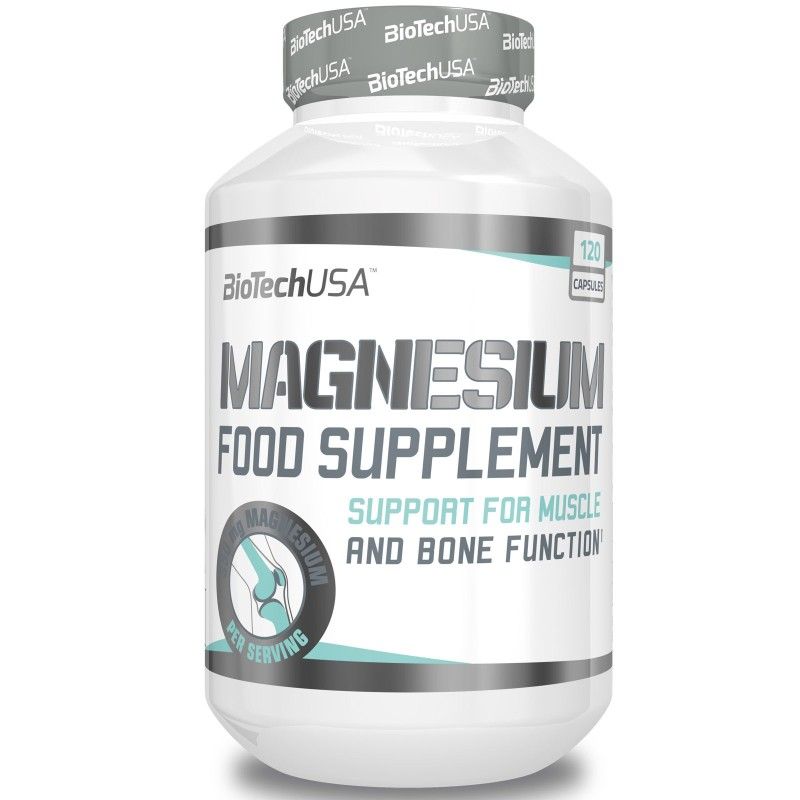 Biotech Usa Magnesium 120 caps. Integratore di puro Magnesio in capsule in vendita su Nutribay.it