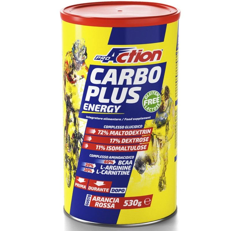 Proaction Carbo Plus Energy 530 gr Energetico con Bcaa Arginina e Maltodestrine in vendita su Nutribay.it