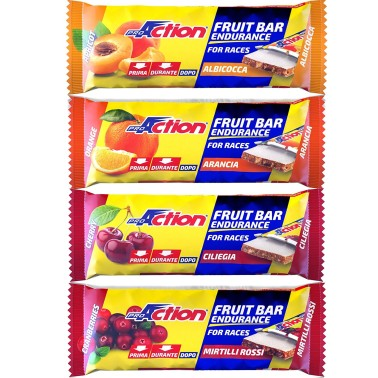 Proaction Fruit Bar Endurance 24 Barrette Energetiche da 40 grammi Carboidrati in vendita su Nutribay.it