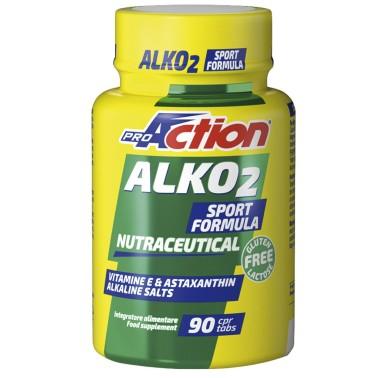 Proaction Alko 2 90 cpr Alcalinizzante calcio magnesio vitamina E ed astaxantina - BENESSERE-SALUTE in vendita su Nutribay.it
