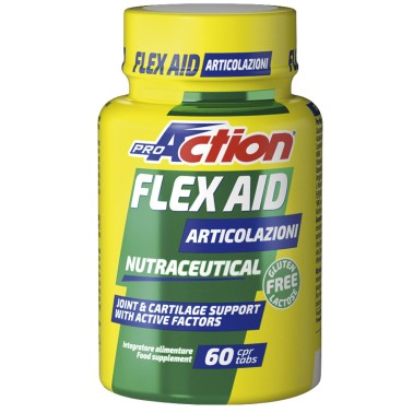 Proaction Flex Aid 60 cpr. Glucosamina Condroitina MSM e Acido Ialuronico in vendita su Nutribay.it