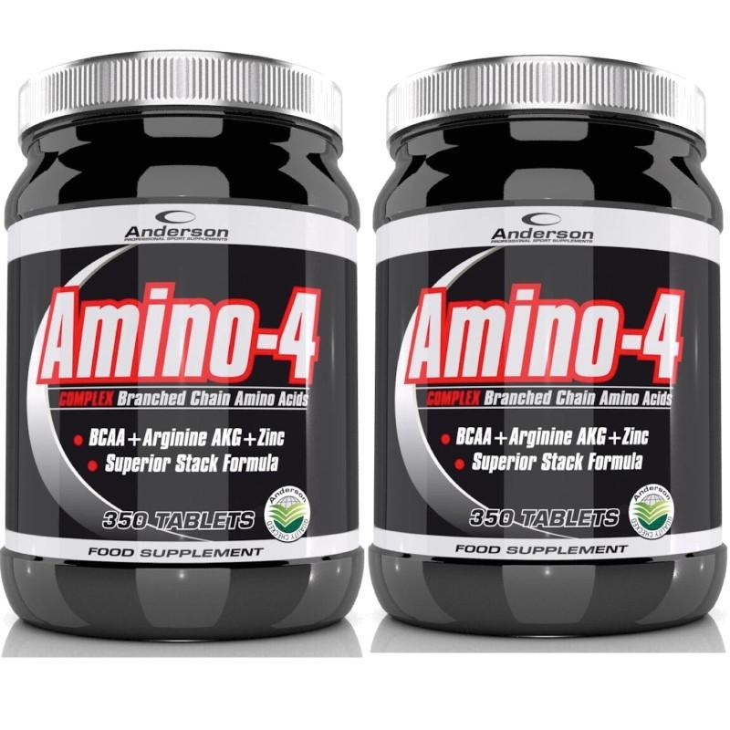 ANDERSON Amino 4 Complex 700cpr Aminoacidi ramificati BCAA + ZINCO +Arginina AKG in vendita su Nutribay.it