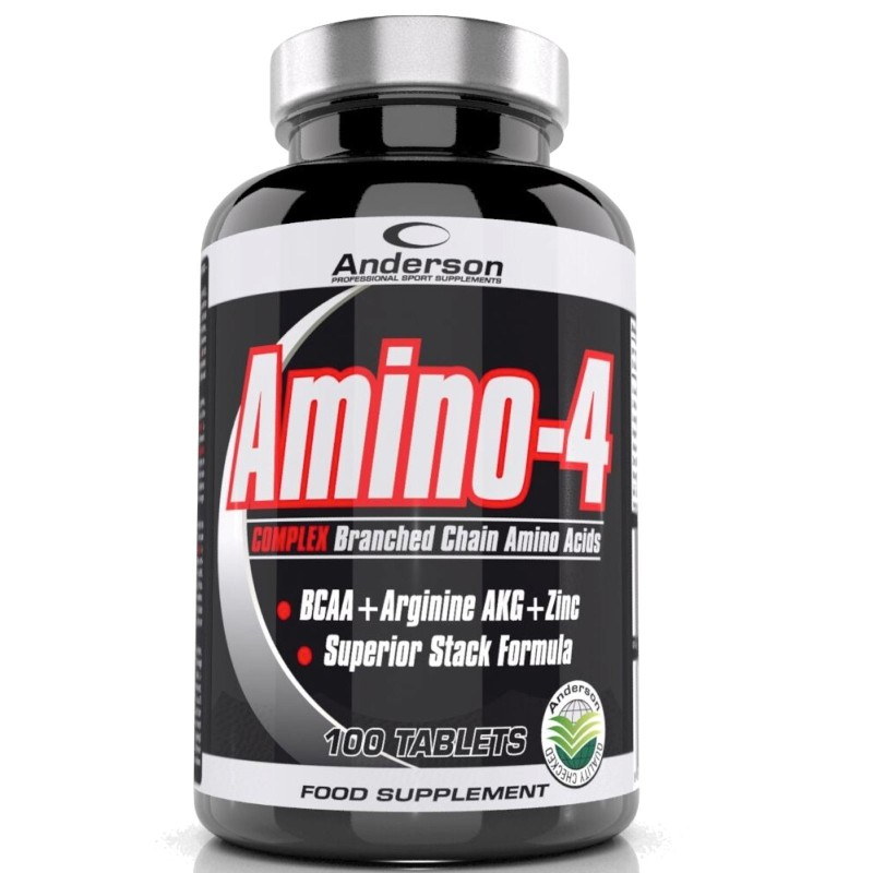 ANDERSON Amino 4 Complex 100cpr Aminoacidi ramificati BCAA + ZINCO +Arginina AKG in vendita su Nutribay.it