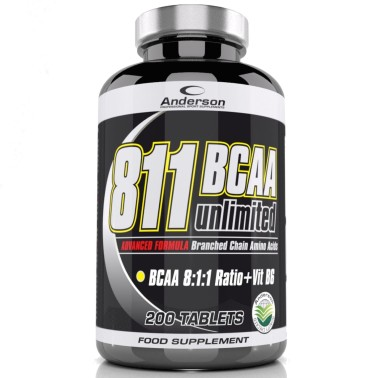 Aminoacidi ramificati 8:1:1 ANDERSON 811 Bcaa unlimited 200 compresse + Leucina in vendita su Nutribay.it