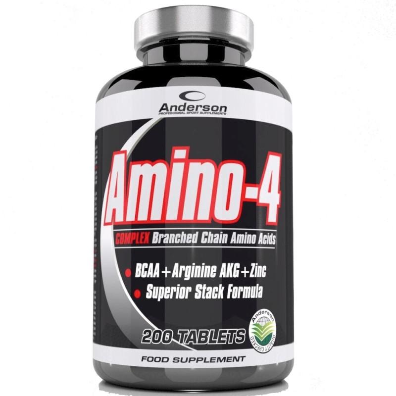 Anderson Amino 4 Complex 200 cpr. Aminoacidi ramificati BCAA Zinco Arginina AKG in vendita su Nutribay.it