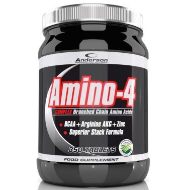 Anderson Amino 4 Complex 350cpr Aminoacidi ramificati BCAA + ZINCO +Arginina AKG in vendita su Nutribay.it