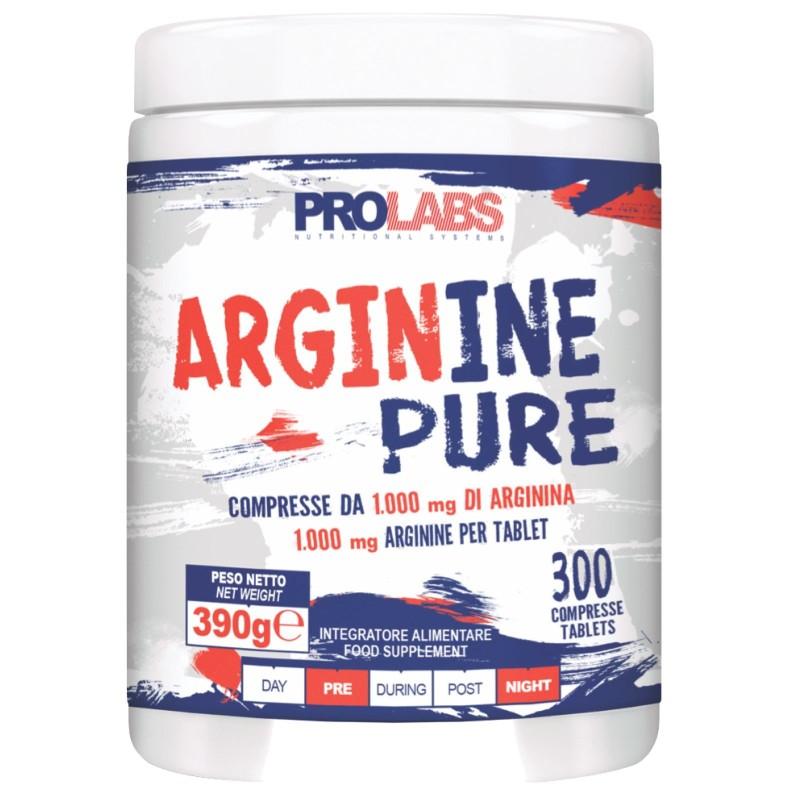 Prolabs Arginine Pure 300 Cpr Arginina Ossido Nitrico Vigore Sessuale e Erezione in vendita su Nutribay.it