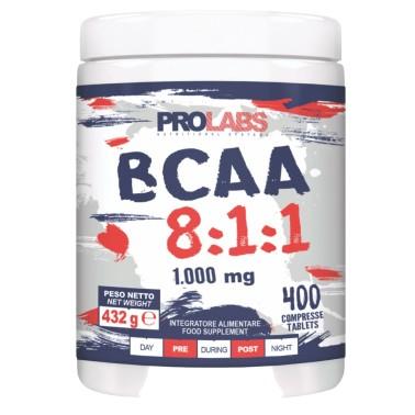 Prolabs BCAA 8:1:1 400 cpr Aminoacidi Ramificati 811 Extra Leucina + Vitamine - AMINOACIDI BCAA 8.1.1 in vendita su Nutribay.it