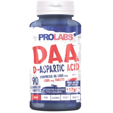 PROLABS DAA Acido D-Aspartico 90 cpr + Vitamina B6 e Zinco Testosterone Booster - TONICI in vendita su Nutribay.it