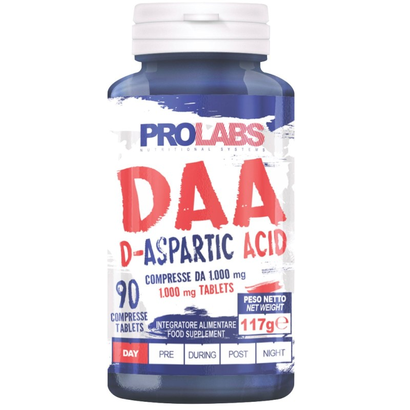 PROLABS DAA Acido D-Aspartico 90 cpr + Vitamina B6 e Zinco Testosterone Booster in vendita su Nutribay.it