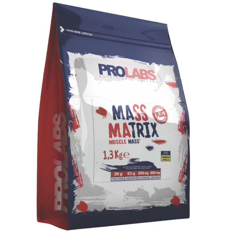 Prolabs Mass Matrix 1,3 kg Mega Mass Gainer con Proteine Creatina e Glutammina in vendita su Nutribay.it