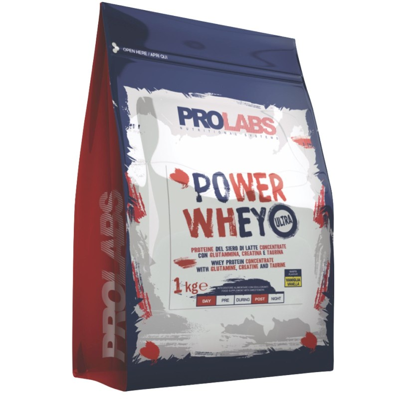 PROLABS Power Whey 1kg Proteine Siero del Latte concentrate ed Isolate + Vit B6 in vendita su Nutribay.it